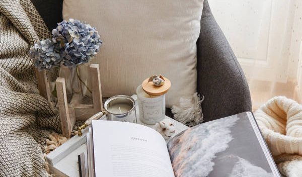Candle and Blanket