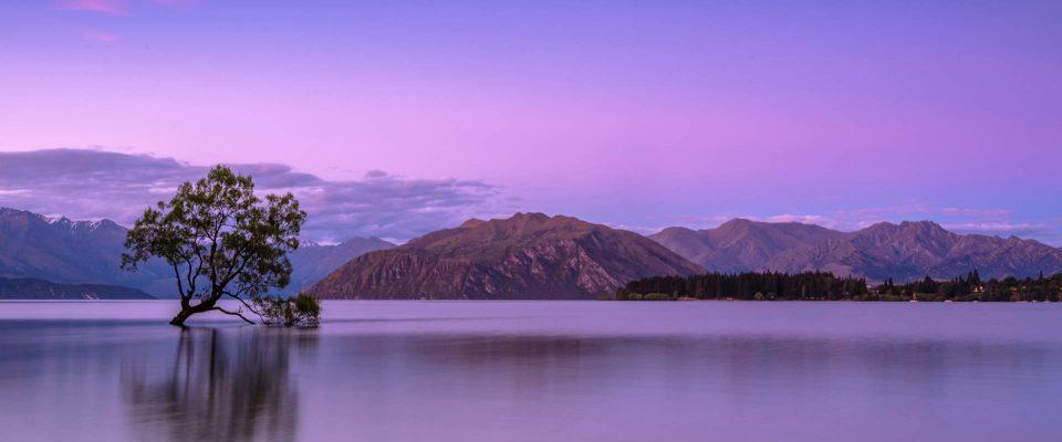 Purple Mountains and Lake